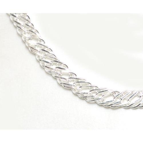 The Olivia Collection Sterling Silver 18 Inch Double Curb Necklace