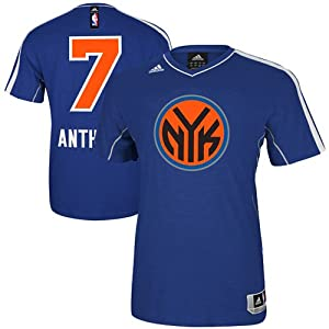NBA adidas Carmelo Anthony New York Knicks Youth Game Time Blank Shooting T-Shirt -... by adidas
