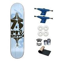 Cliche Blue Pre-Gripped 7.5 Skateboard Deck Complete