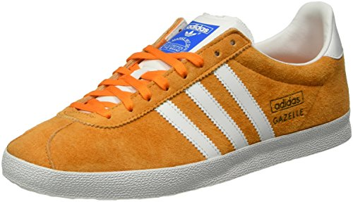 adidas Gazelle OG - Scarpe da Ginnastica Basse Uomo, Arancione (Bright Orange/Ftwr White/Bright Orange), 44 EU