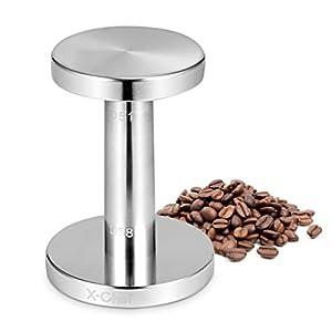 Espresso Tamper, X-Chef Aluminum Tamper for Espresso 51/ 58mm Coffee Tamper Coffee Bean Press by X-Chef