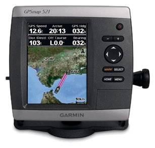 Garmin GPSMAP 521s wdual frequency transducer