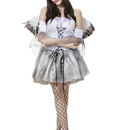 RedExtend® Angel Cosplay Dress /w Wings Devil Fancy Dress Halloween Costume