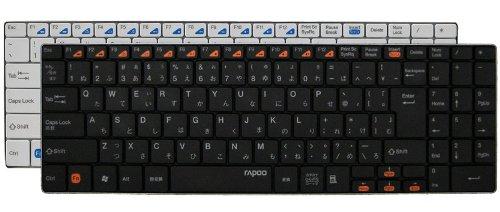 ユニーク 2.4GHzワイヤレスキーボード rapoo E9070 ホワイト 5.6mmウルトラスリム E9070W