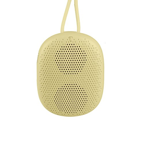 Portable Doss Stone Ds-1196 Bluetooth Mini Wearable Speaker/Handsfree For Call/ Tf Slot (Yellow)