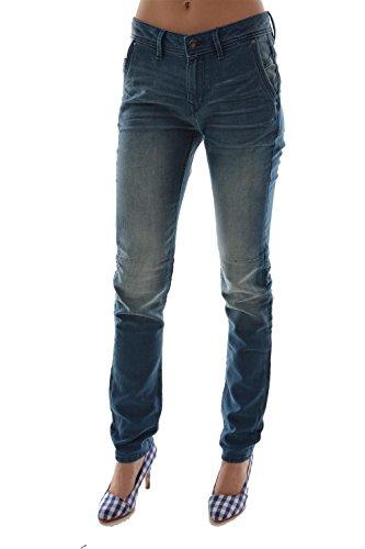 edc by ESPRIT Slim Boyfriend-Jeans Donna    Azzurro slavato  26W x 32L