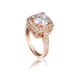 Mother's Day Gifts Fashion Plaza 18k Rose Gold Plated Use Cubic Zirconia Crystal Engagement Spark Ring R30 (4)