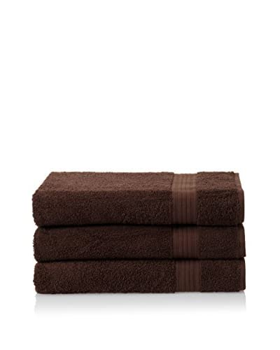 Chortex 3-Piece New Savannah Bath Sheet, Chocolate