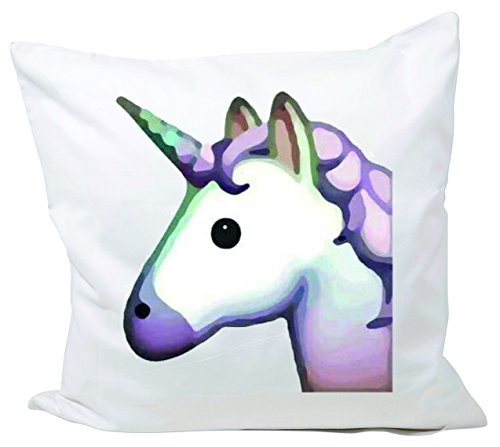 Taie-40x40-Horsehead-ou-Unicorn-Pinkes-rose-tte-de-licorne-magique-beaut-taie-doreiller-en-taies-oreiller-Fun-Smiley-Emoji-Astuces-de-Nol