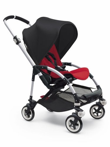 Bugaboo Bee 3 Stroller With Red Seat (Black)