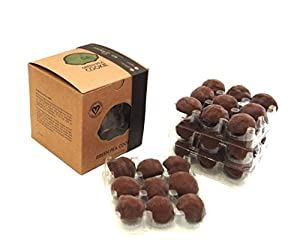 Gourmet Vegan Cookies Smothered in Dark Chocolate -- 36 Count Kraft Box (Chocolate Dipped Green Pea Cookie) -- Vegan, Plant Based, Bay Area Produced