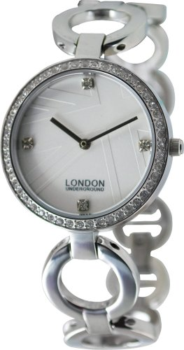 Ladies White Stainless Steel Watch by London Underground LU31001