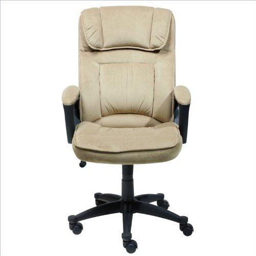Serta 43670 Microfiber Executive Chair, Coffee Brown front-702217