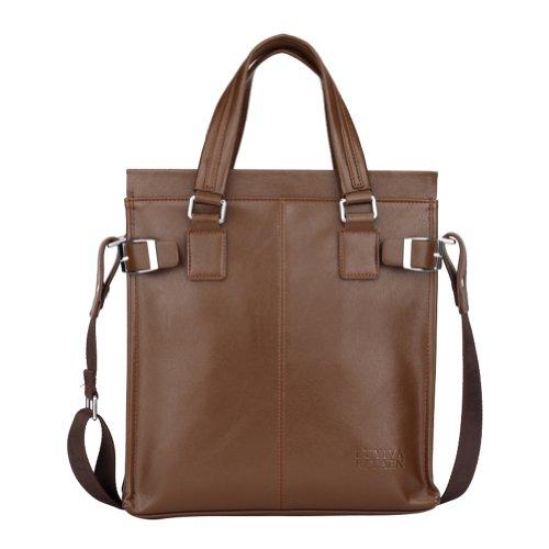 Men's Vintage Vertical Casual Business Messenger Shoulder Bag Handbag Brief Case