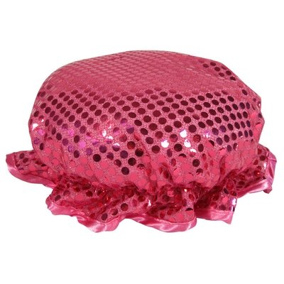 Pink Sparkling Sequin Shower Cap