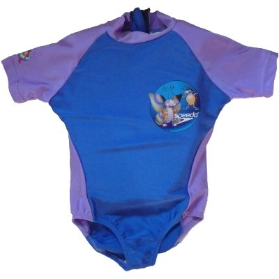 Girls Blue Speedo Polywog Swimming Suit Floaty Buoy