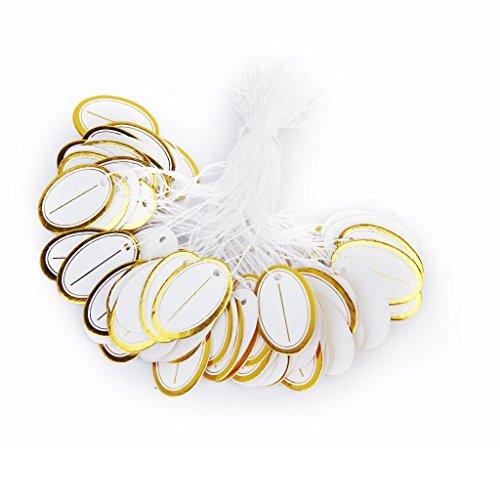 Gleader 500x etiquettes de Prix avec Corde pour Vente de bijoux
