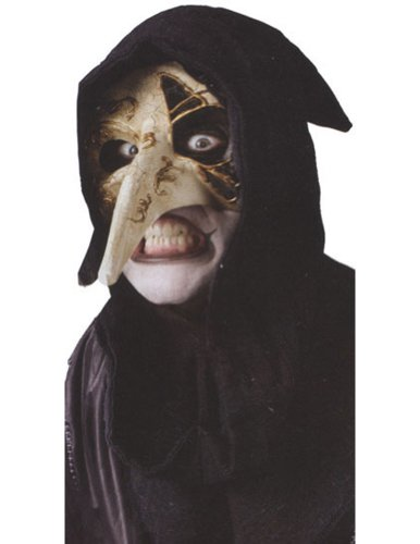 Venetian Raven Mask Bone Halloween Costume - Most Adults