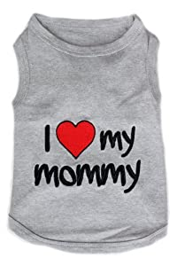 Parisian Pet I Love Mommy Dog T-Shirt, XX-Small