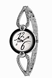 Zerk Analogue White Dial Watch For Women Ab-W50