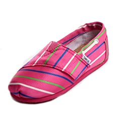 Toms - Tiny Slip-On Pink Stripe Shoes, Size: 9 M US Toddler, Color: Pink Stripe