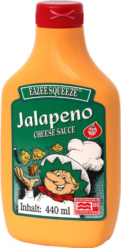 Old Fashioned Foods Jalapeno Squeeze Cheese Microwaveable, 4er Pack (4 x 440 ml)