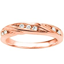 buy Promise Ring Set With Diamonds G-H I2-I3 Mounted In 10K Rose Gold (0.16 Ct. Twt.)