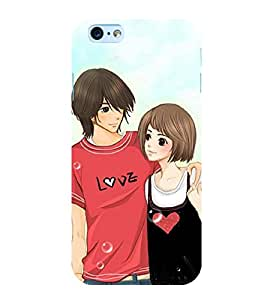 Love Couple 3D Hard Polycarbonate Designer Back Case Cover for Apple iPhone 6s Plus :: Apple iPhone 6s+