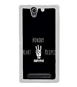 Quote 2D Hard Polycarbonate Designer Back Case Cover for Sony Xperia C4 Dual :: Sony Xperia C4 Dual E5333 E5343 E5363