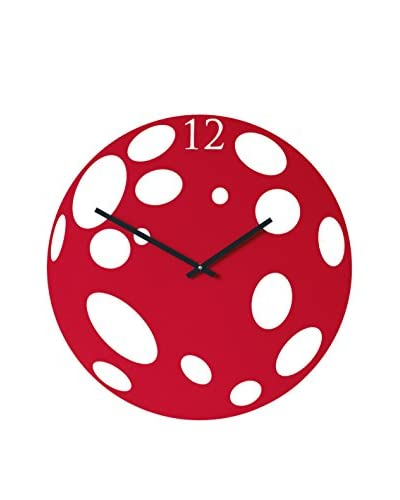 Diamantini & Domeniconi Wall Clock Moon rood