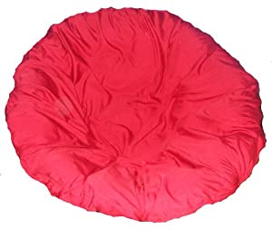 Red papasan cushion cover and footstool cover Papasan cushion cover