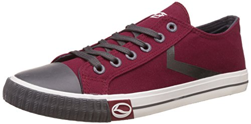 Lancer Men's Wine and Dark Grey Sneakers - 8 UK/India (42 EU)(YSM-L-902)  available at amazon for Rs.699