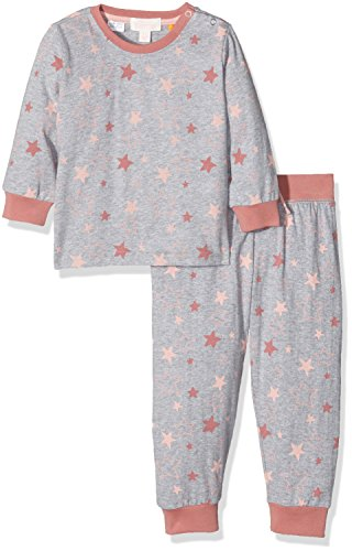Pumpkin Patch Stars Relaxed Fit Sleep Set, Pigiama Bambina, Grey (Athletic Marle), 7-8 Anni
