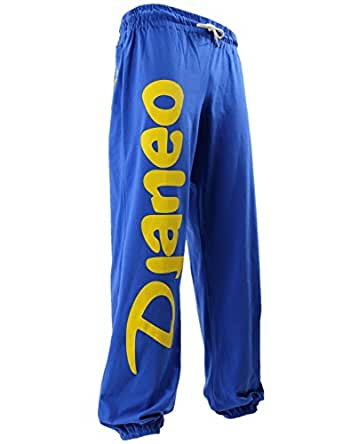 Pantalon Jogging coton Djaneo Rio Homme et Femme pour le sport Bleu Roy et Jaune Taille XXS