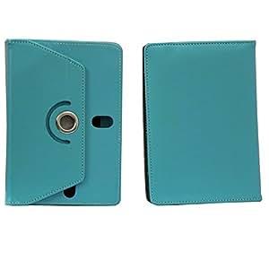 Jo Jo Rotating Flip Flap Case Cover Pouch Carry For Karbonn A37 Light Blue