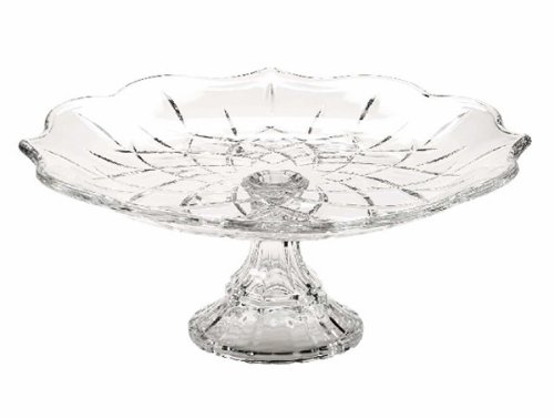 Gorham Crystal Lady Anne Footed Cake Plate-Scalloped