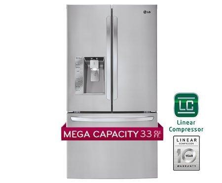 LG LFX33975ST 32.5 Cu. Ft. Stainless Steel French Door Refrigerator - Energy Star