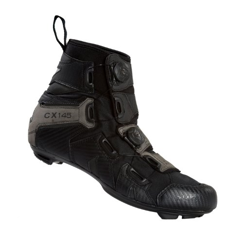 Lake CX145 Road Shoes - BLACK/GRAY, 41 EU (Lake Winter Cycling Shoes compare prices)