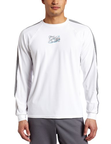 O'Neill Wetsuits Men's 24-7 Tech Long Sleeve Crew, White/Flint/Metal, Medium