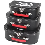 Pirate Storage Boxes Skull Suitcase Set of 3 - gift for boys bedroom