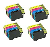 4 SETS X 18XL Compatible High Capacity Cartridges for use with Epson WorkForce  Expression Home XP30 102 202 302 305 402 405 NON OEM