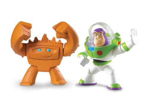 Disney / Pixar Toy Story 3 Action Links Mini Figure Buddy 2Pack Protector Buzz Lightyear Good Mood Chunk