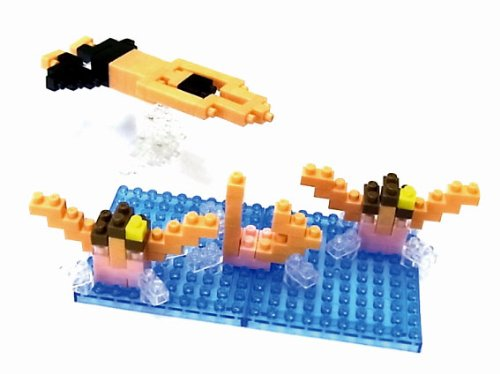 Nanoblock X Ozu Makoto Olympic Swimming Synchronized Swimming Breaststroke Nbcb-001