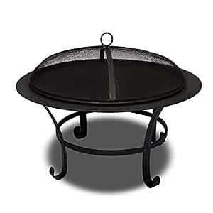Braséro avec couvercle foyer / barbecue chauffage extérieur