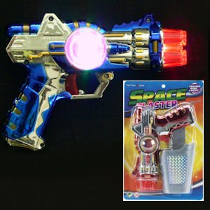 Flashing Space Blaster Gun with Holster