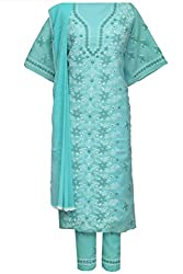 ADA Lucknow Chikankari Hand Embroidered Exclusive Ethnic Dress Material A93119