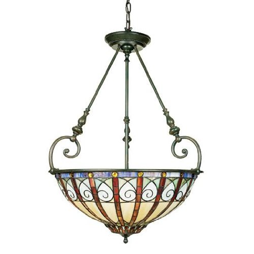 Quoizel TFAV2823VB Ava 31-Inch Pendant with Three Uplights, Vintage Bronze Finish