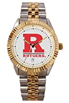 Rutgers Scarlet Knights Mens Executive Stainless Steel Watch