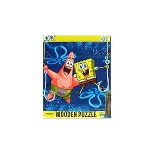 Amazon.com: Spongebob Squarepants 25 Piece Wooden Puzzle ...