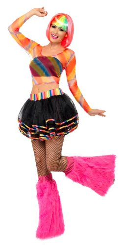 Smiffy's Rainbow Raver Kit - Multi-Coloured - One Size Standard